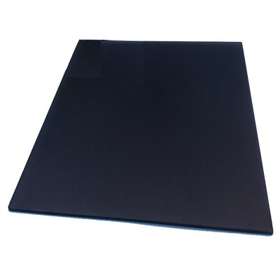 Carbon crystal silicon glass plate