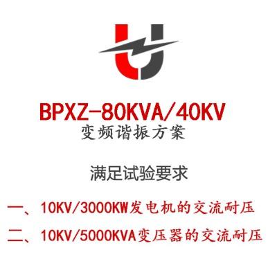 BPXZ-80KVA/40KV变频谐振方案