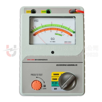 DMH-5000指针式绝缘电阻测试仪(5000V)