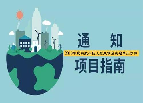 2019年度上海小巨人拟立项名单公示