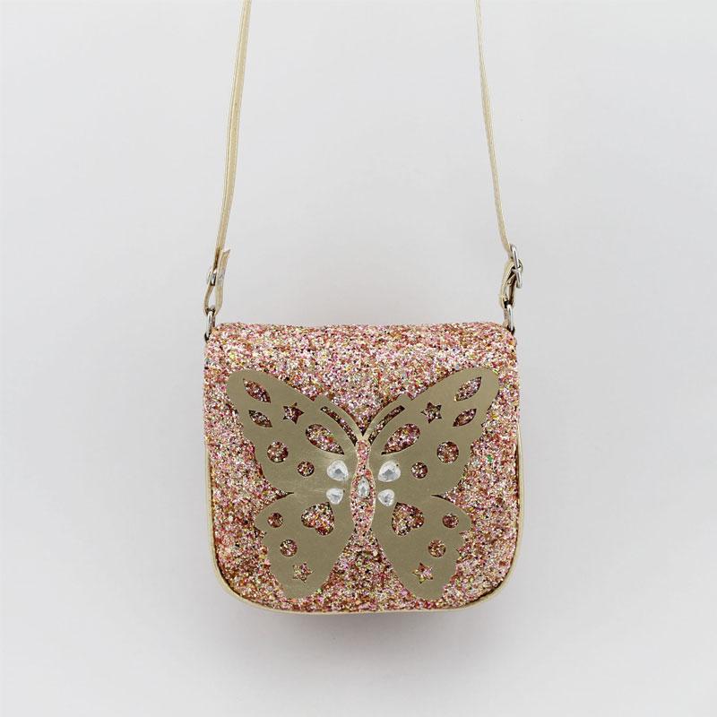 蝴蝶童装斜挂包