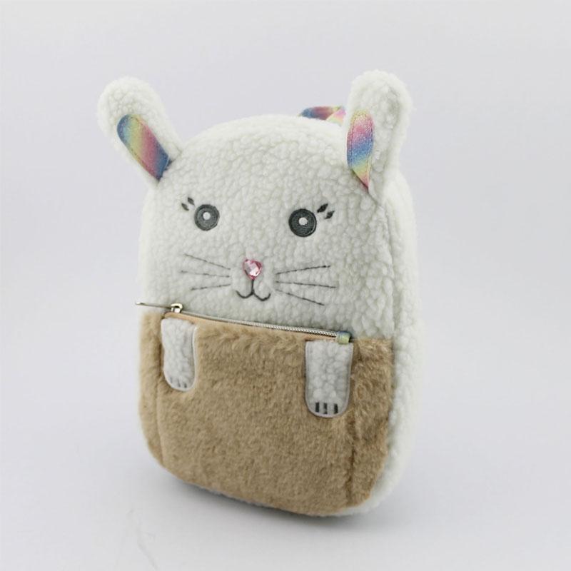 兔子毛毛料童装背包
