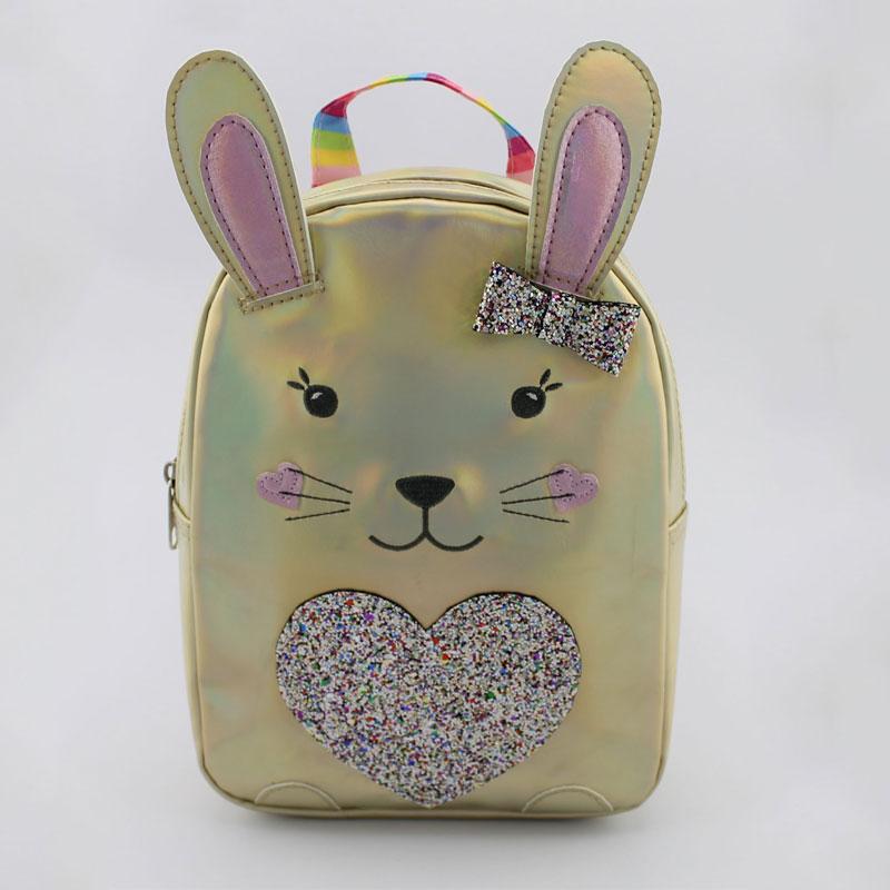 兔子心形童装背包
