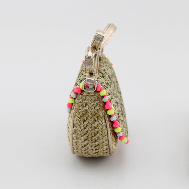 编织料童装斜挂包