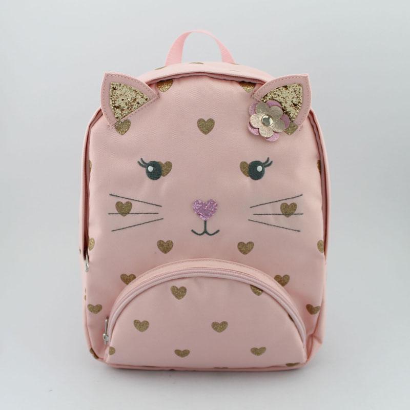 猫咪心形图案童装背包