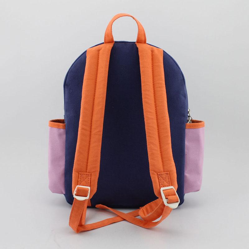 帆布豹纹童装背包