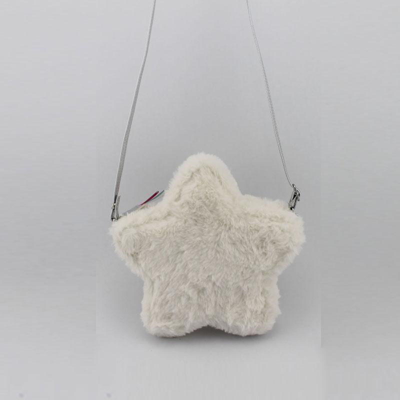 五角星毛毛料童装斜挂包