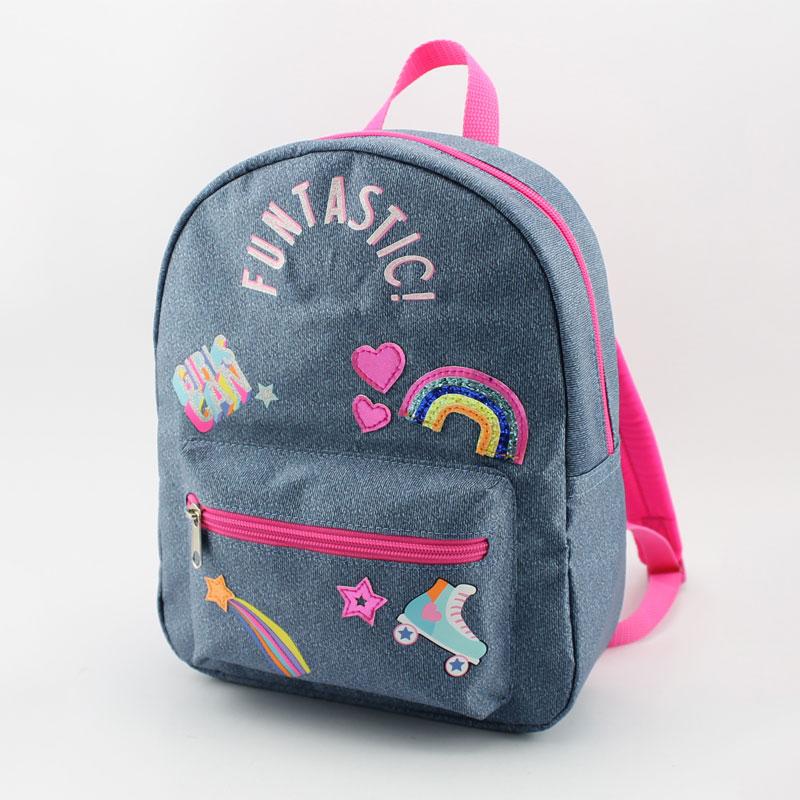 丝印彩虹童装背包