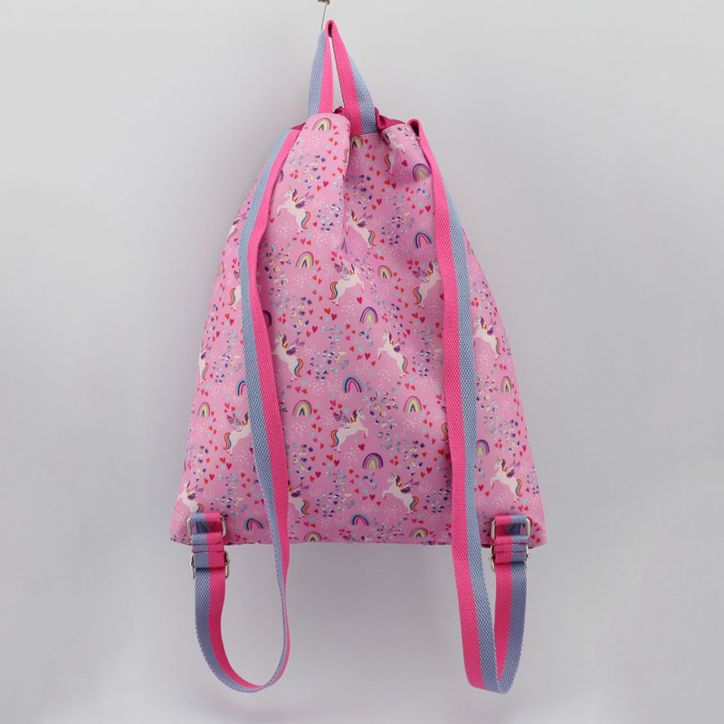 独角兽丝印尼龙料童装背包