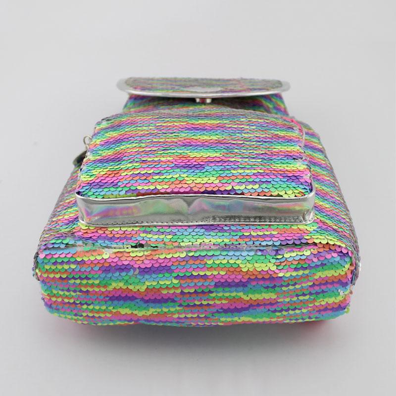 彩色珠片料童装背包