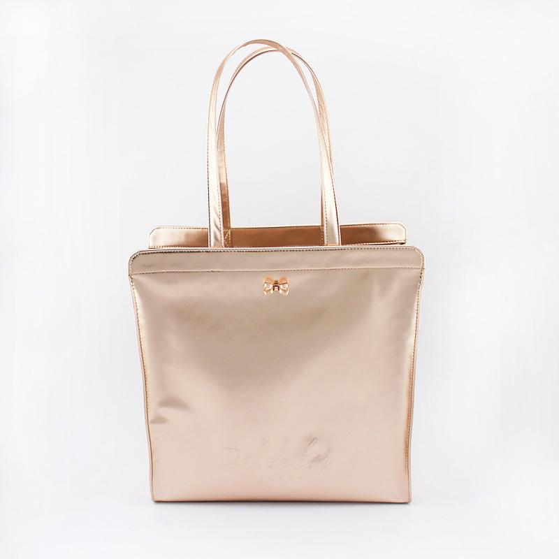 时尚亮面购物袋,手提包 大号
