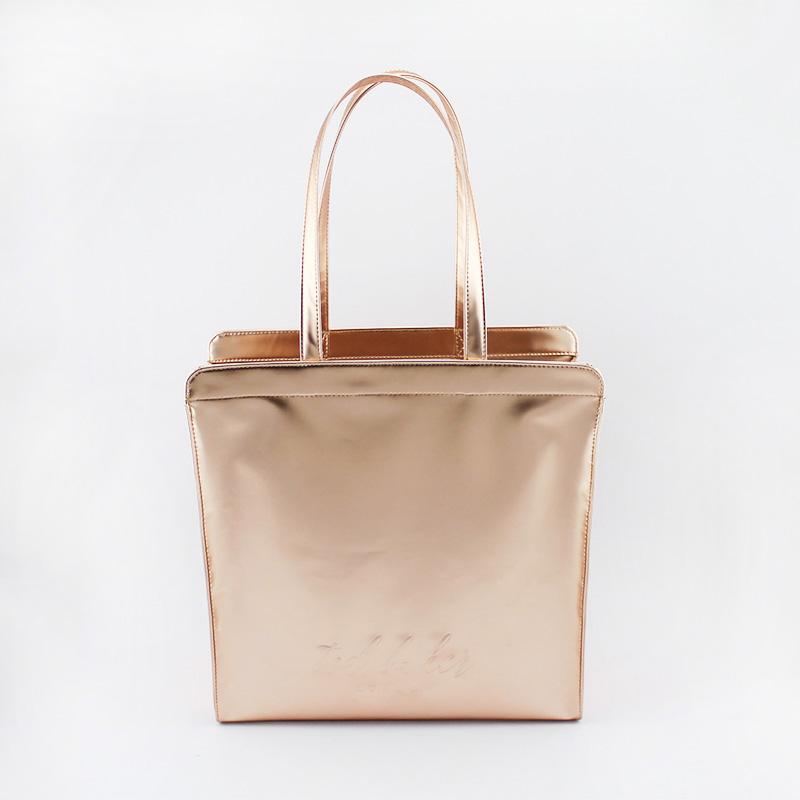时尚亮面购物袋,手提包 小号
