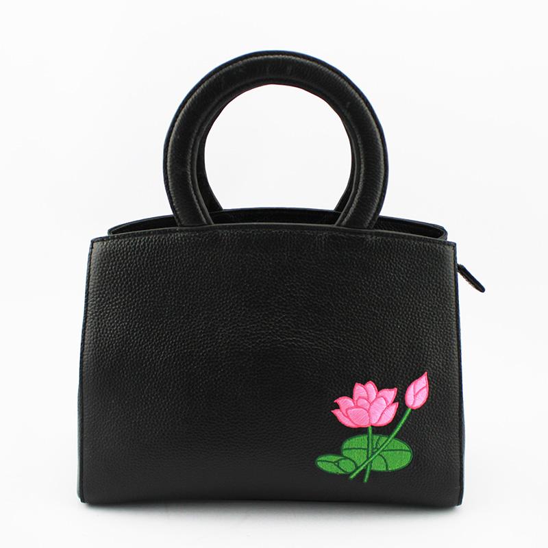 荷花系列手提包