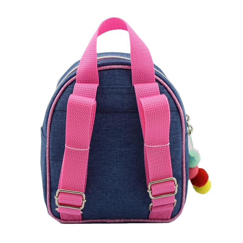童包,背包,牛仔布彩虹球童装背包