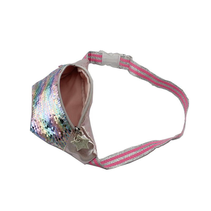童包,儿童斜跨包,腰包,幻彩珠片料腰包