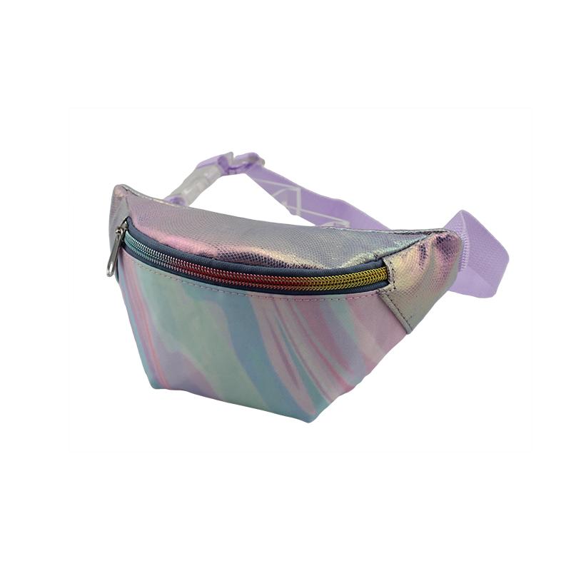 童包,儿童腰包,尼龙大理石花纹印花尼龙腰包