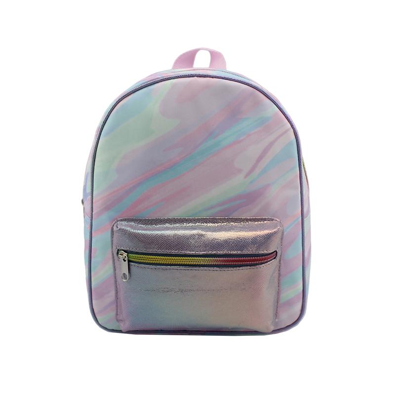 大童背包,尼龙双肩背包,丝印幻彩紫色大理石纹背包