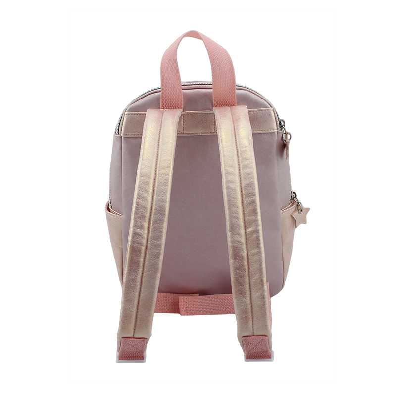童包,玖瑰金色童包,背包