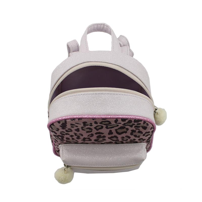 童包,儿童迷你背包,豹纹小背包,毛毛球吊饰背包