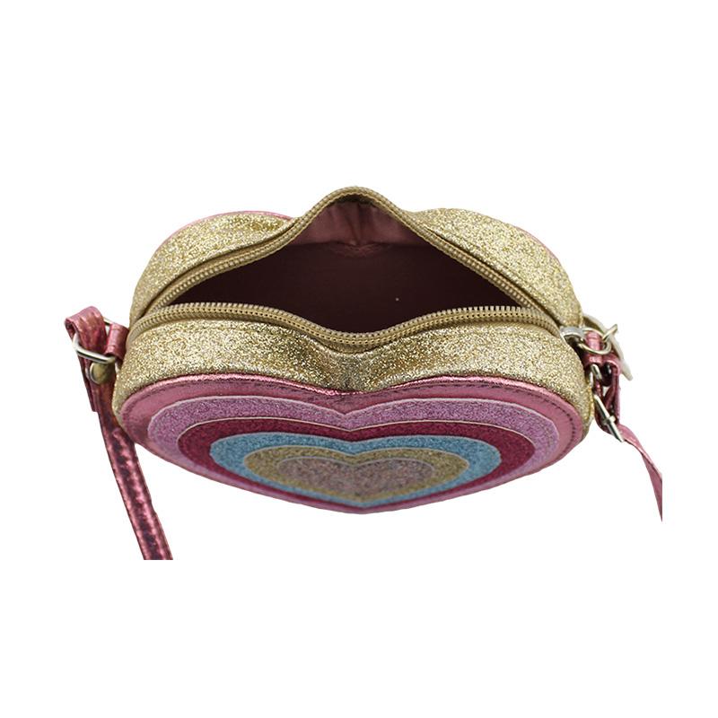 彩色心形斜挎包, 童包