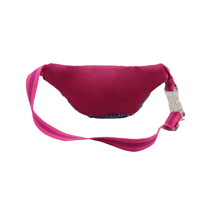彩色珠片料腰包 童包