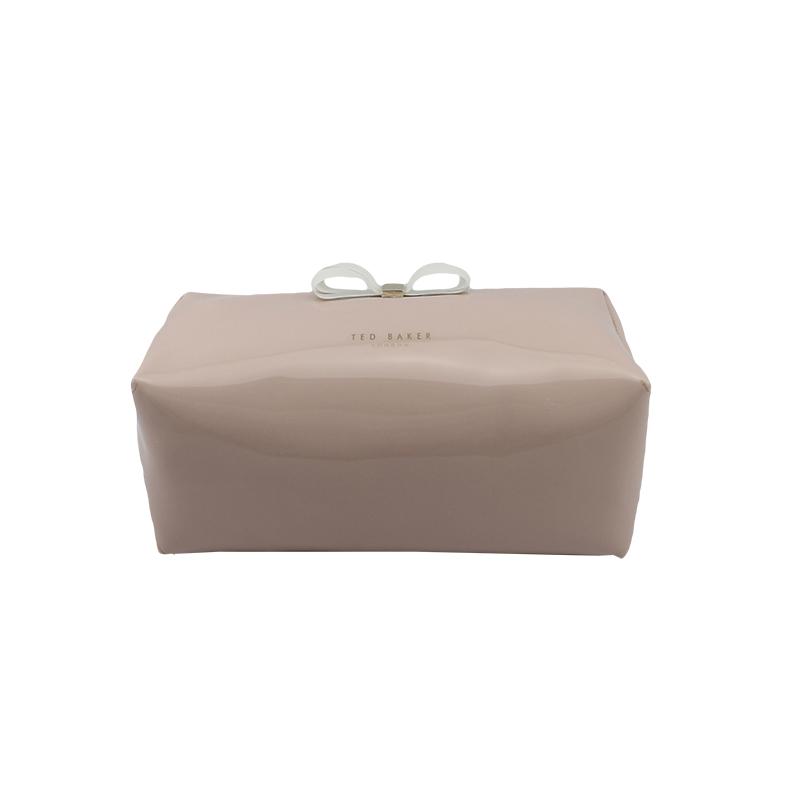 透明胶蝴蝶结大号化妆袋