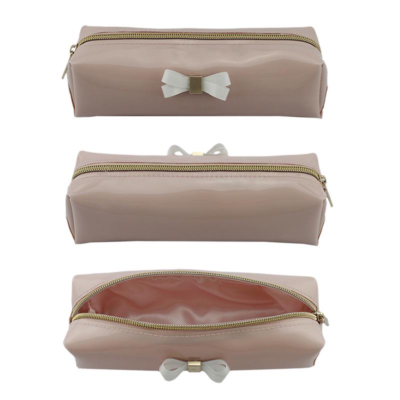 透明胶蝴蝶结笔袋