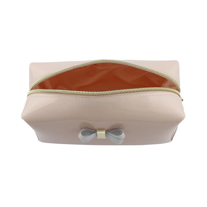 透明胶蝴蝶结小化妆袋
