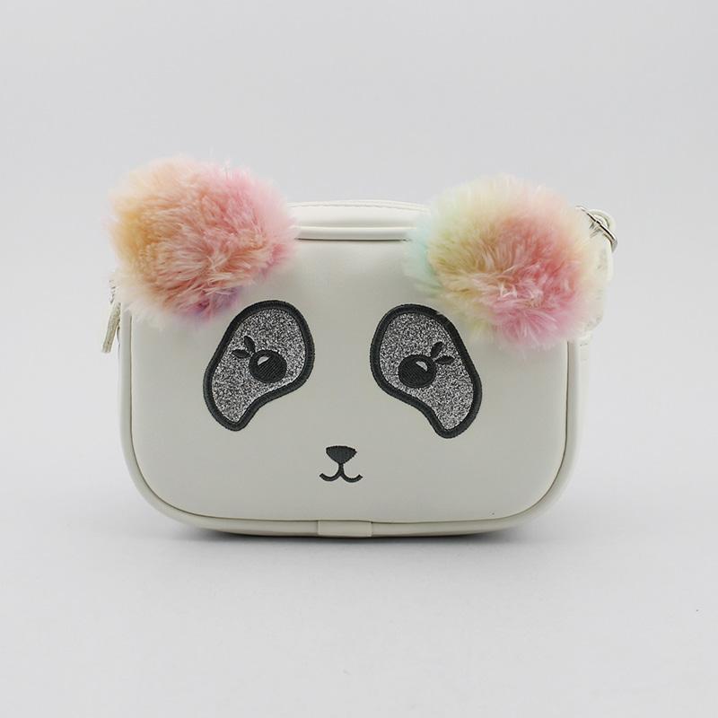 熊猫斜挎包,童包