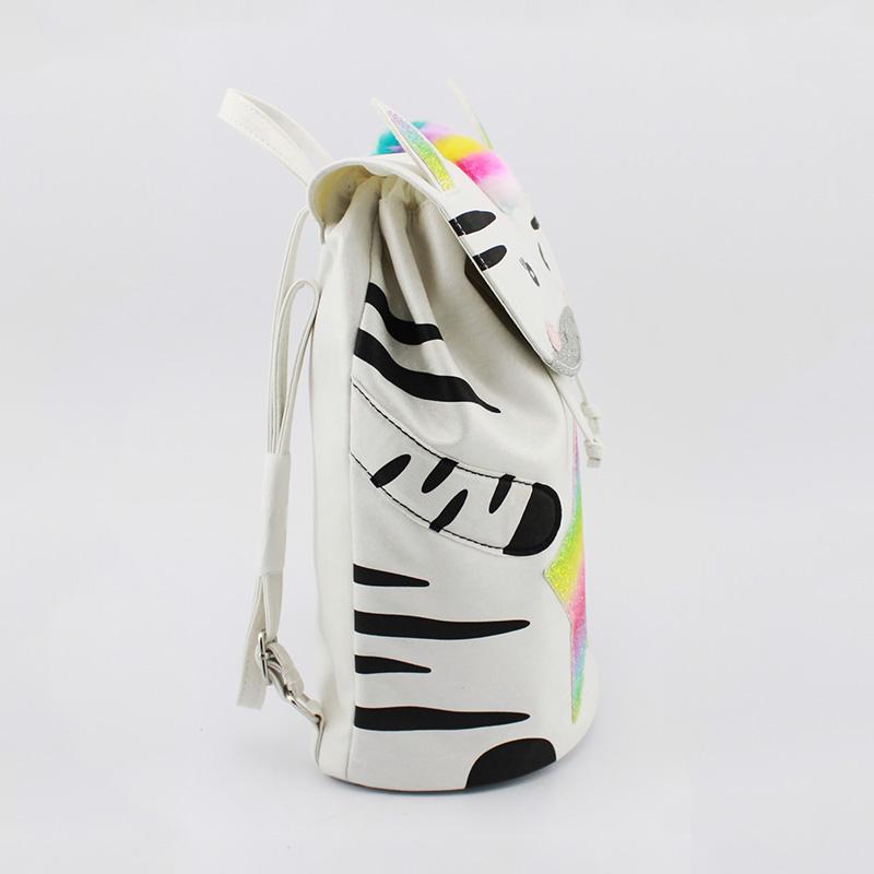 童包,斑马彩虹背包