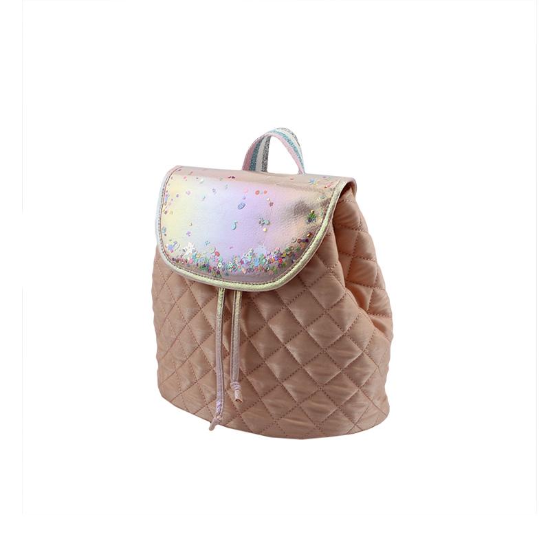 闪亮珠片+间棉儿童背包