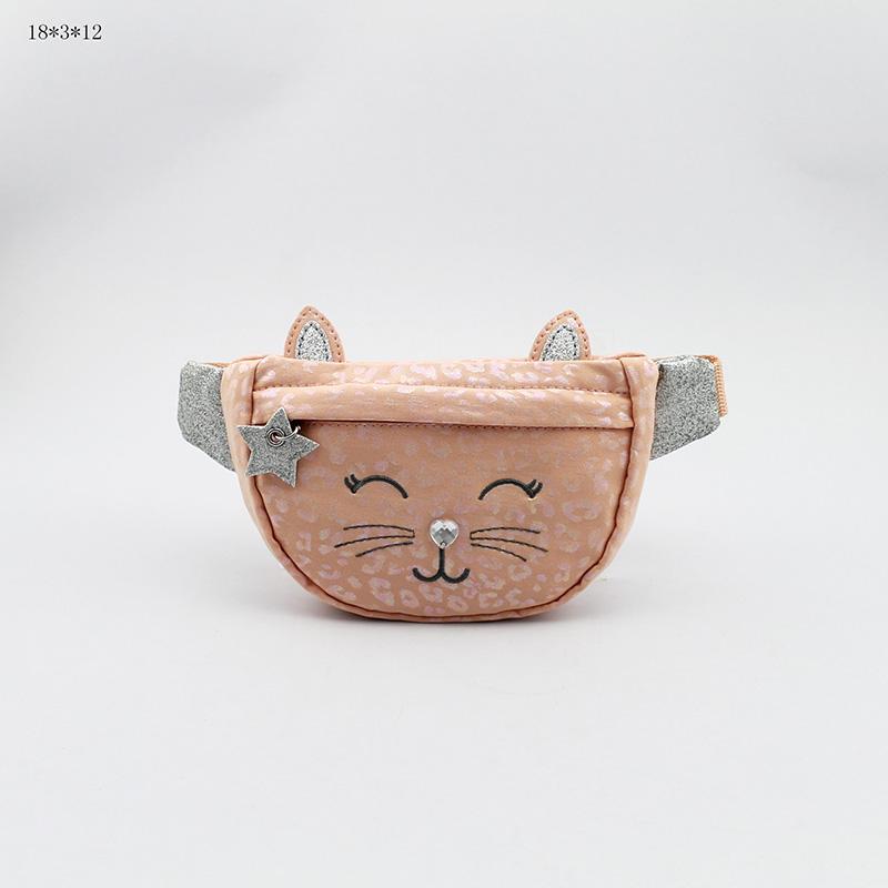 童包 猫咪腰包 豹纹腰包