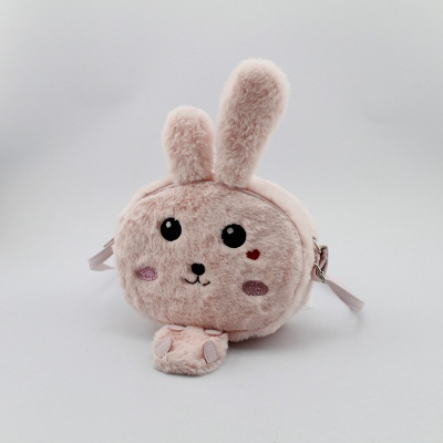 兔子斜跨包 毛毛料斜挎包 童包