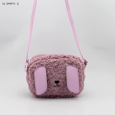 兔子斜跨包 童包 毛毛斜挎包