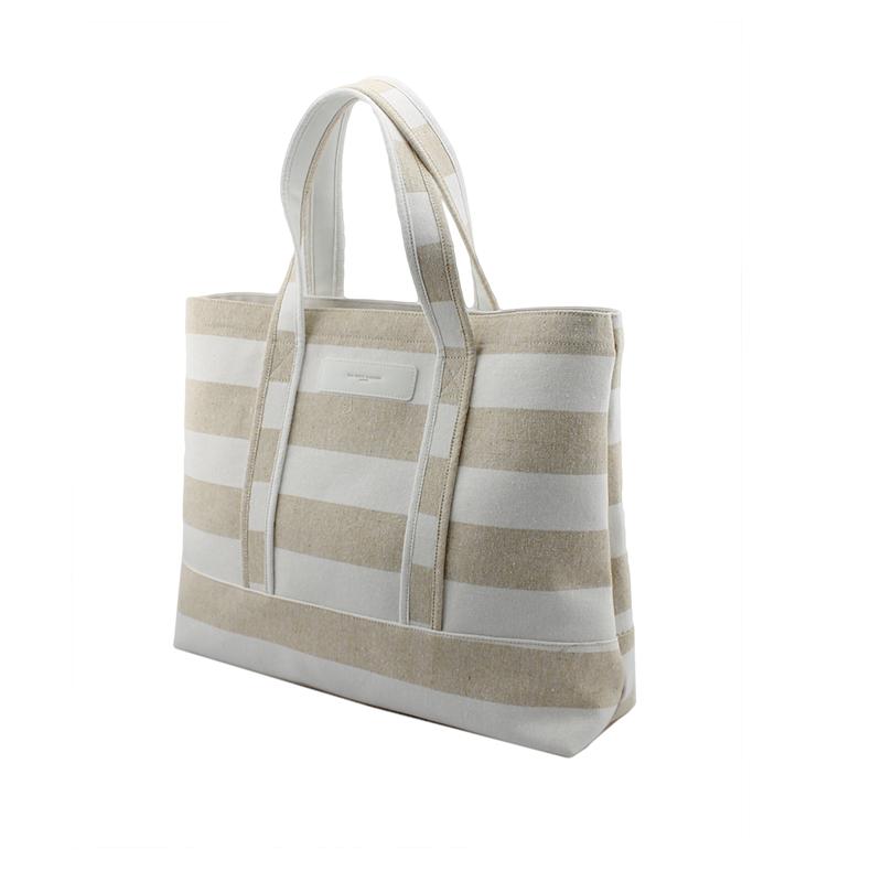 自然风条纹购物袋