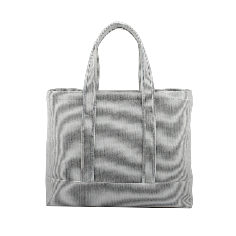 灰色条纹购物袋