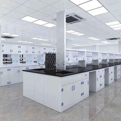 Polypropylene Island Bench, Anti-corrosive Workbench, PP Lab Table
