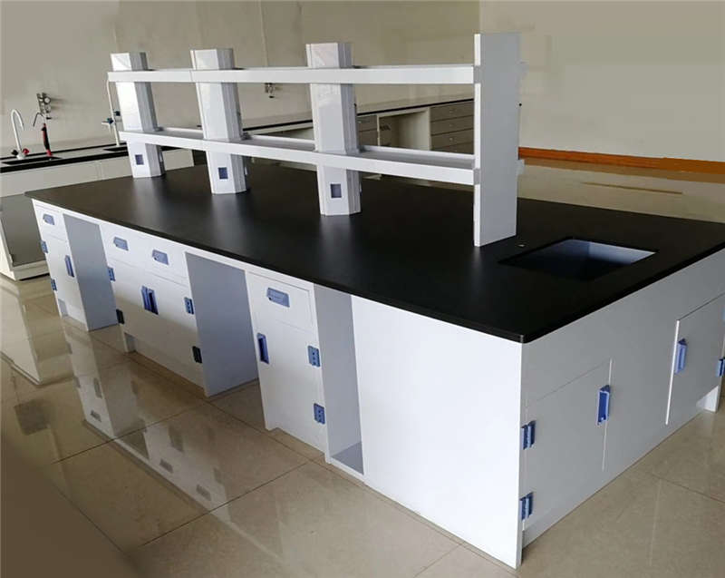Polypropylene Island Bench, Anti-corrosive Workbench, PP Lab Table