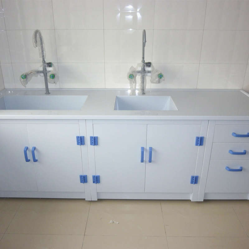 PP Lab Side Bench, Strong Acids and Alkali Resistant PP Lab Table, Anti-corrosion Lab Furniture