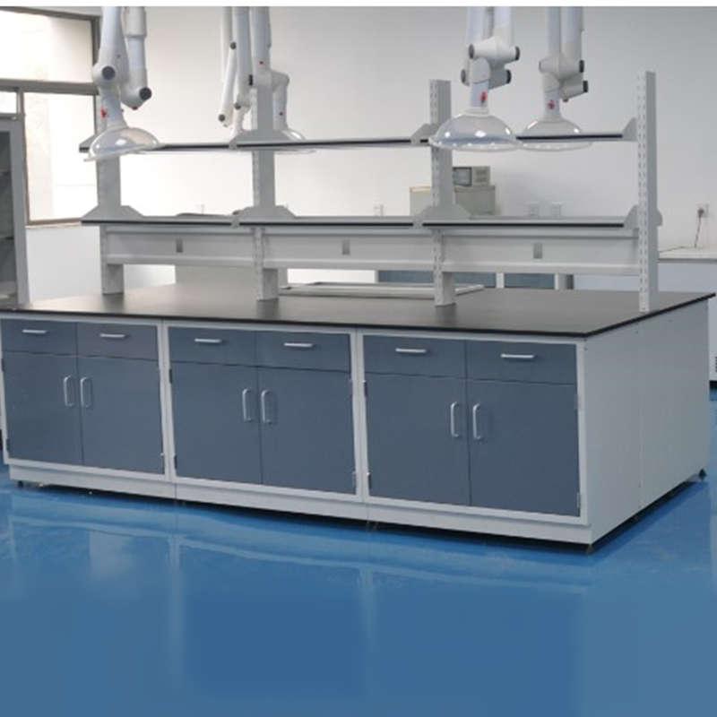 Steel Island Bench, Laboratory Workbench, Laboratory Table