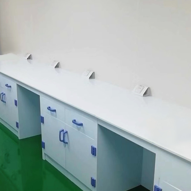 PP Lab Side Table, Laboratory Workbench, Polypropylene Lab Table Acid and Alkali Resistant