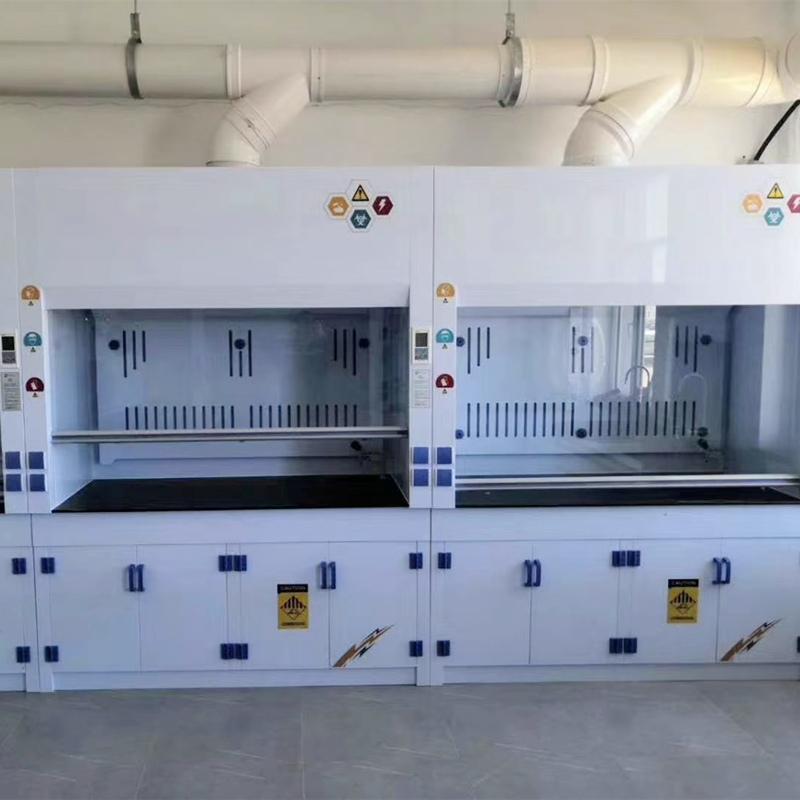 PP Fume Cupboard Acid Base Resistant, Chemical Fume Hood With Sink
