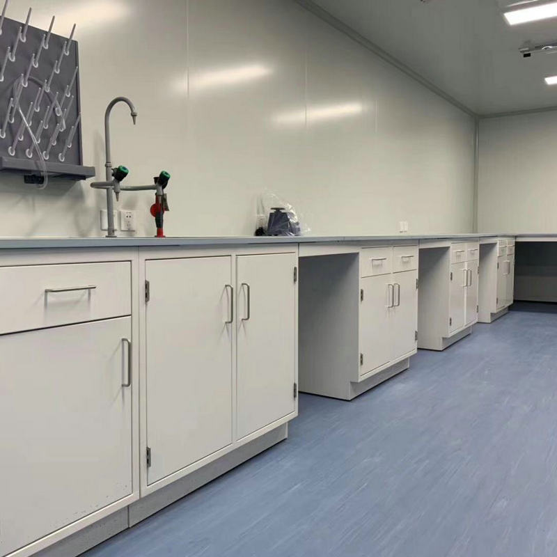 Steel Laboratory Workbench, Lab Side Bench, Modern Laboratory Table
