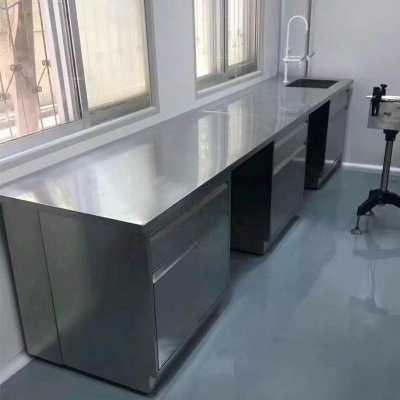 Stainless Steel Lab Bench, Corrosion Resistant Lab Table, Side Workbench