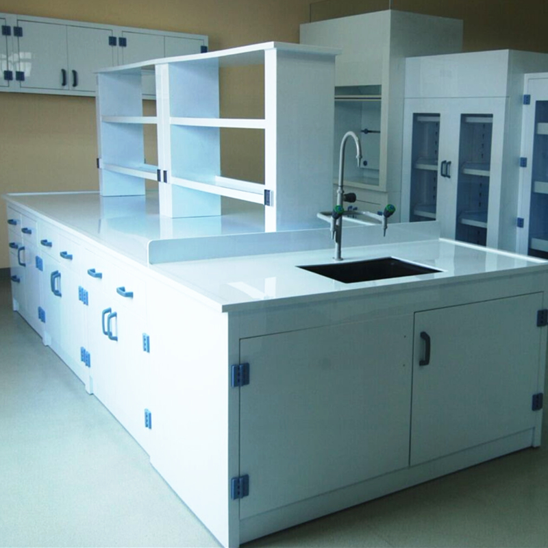 PP Lab Central Table, Chemical Laboratory Island Workbench, PP Lab Worktation for Strong Corrosion