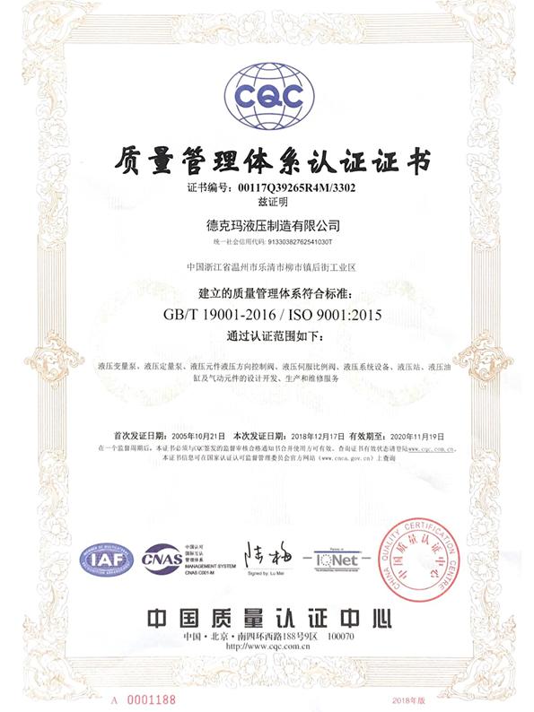 德克瑪資質證書17