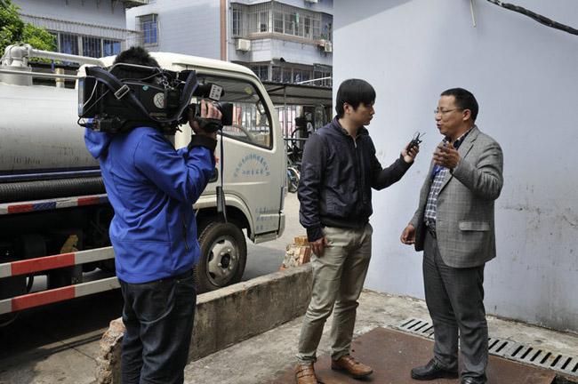 中央電視臺新聞記者到我公司進行了專題新聞采訪報道