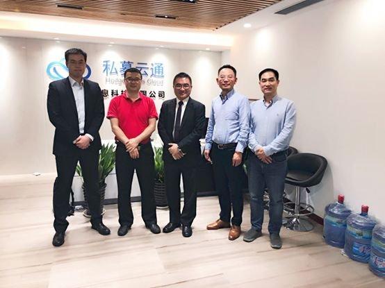 貝羅斯資本行政總裁王向燊、經理任昊翔到訪私募雲通