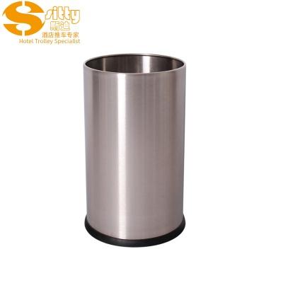 砂光無焊縫不銹鋼圓形客房桶