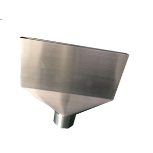 Stainless steel hopper with hairline